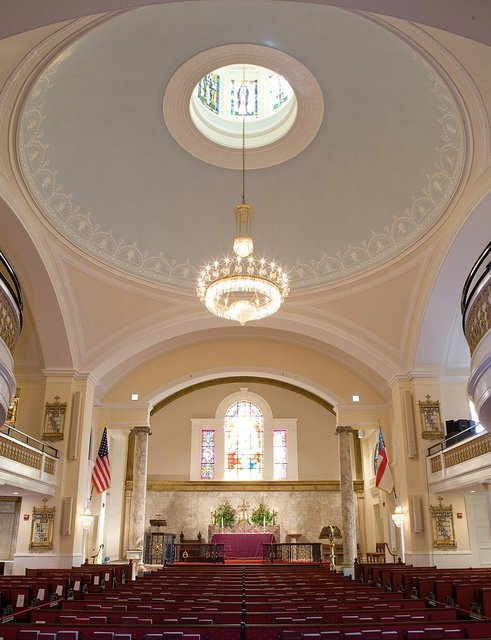 The Dome at St. John's Church. Still not retractable