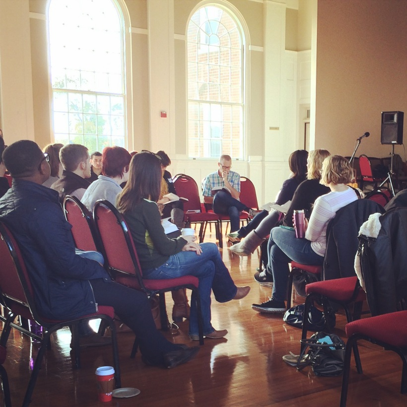 Jason leading Morning Prayer at Commonplace, a recent conference.