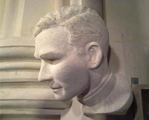 Jonathan Daniels' bust in the National Cathedral.
